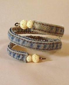 Image result for denim bracelet