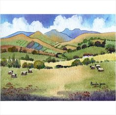 Limited Edition Watercolour Print ~ The Brecon Beacons Wales on eBid United Kingdom