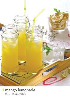there are a lot of ice-teas and lemonades