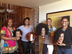 February's Class with their Latch Hook assignments.   #Natural Hair, #Black Hair,   www.everettes.com