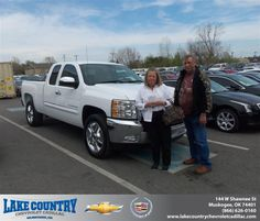 #HappyAnniversary to Carolyn Kreft on your 2013 #Chevrolet #Silverado 1500 from Aaron Shieldnight  at Lake Country Chevrolet Cadillac!