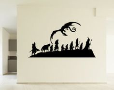 Lord of the Rings Inspired Fellowship Dragon LoTR Wall Picture Art Decal Sticker Home Décor Improvement Decoration