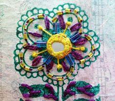 hand embroidery |stitches|shisha| Indian mirrors |