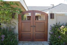 Spanish Style Wooden Gate