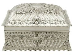 Sterling Silver Jewellery Box by Charles Edwards - Antique Victorian (1894)