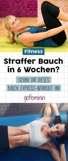 Express-Workout: Straffer und durchtrainierter Bauch in nur 6 Wochen Express Workout: Tight and toned stomach in just 6 weeks Fitness Workouts, Yoga Fitness, Fitness Motivation, Tips Fitness, Sport Fitness, Health Fitness, Workout Songs, Workout Videos, Toned Stomach