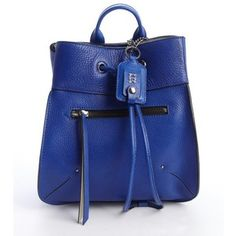 Olivia Harris Blueberry leather small backpack