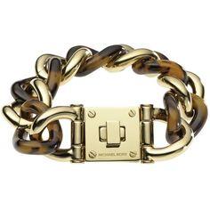 MICHAEL Michael Kors Tortoise Shell Turnlock Bracelet