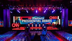 Explore photos of CNN Presidential Debate's TV set design in this interactive gallery of the studio. Tv Set Design, Stage Set Design, Design Ideas, Design Inspiration, Event Branding, Branding Design, Homemade Face Paints, Youth Rooms, Church Stage