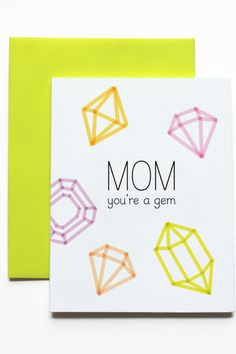 """15 Cool Cards That Say, """"I Love You, Mom"""" #refinery29  http://www.refinery29.com/mothers-day-cards#slide6"""