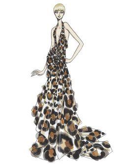 Croquis de moda - Atelier Versace