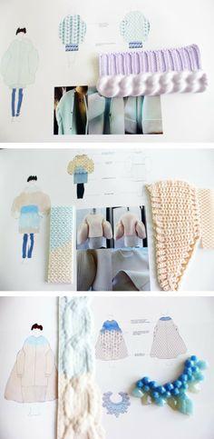 Xiao Li. fantastic color coordination. Knit textures are amazing.