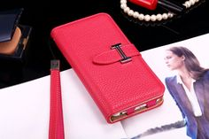 Buy Designer hermes iphone 6/6S Leather Case Cover Rose