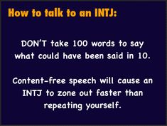 INTJ Same goes for written material