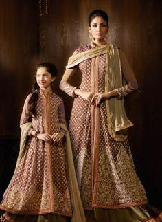 Anarkali Lehenga style Same Dress For Mom And daugter alberta, Buy Same Dress For Mom Daughter Online Long Choli Lehenga, Anarkali Lehenga, Lehenga Suit, Sabyasachi, Mother Daughter Fashion, Mom Daughter, Mother Daughters, Mom And Daughter Matching, Lehenga Style