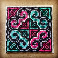 "Decorative 7.5"" X 7.5"" Perler bead design by capriciousarts"