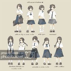 Ideas For Fashion Girl Drawing Clothes Manga Girl, Anime Art Girl, Manga Anime, Anime Uniform, Dress Anime, Anime School Girl, Clothing Sketches, Thai Art, Japanese School Uniform
