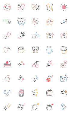 Easy Doodles Drawings, Simple Doodles, Cute Doodles, Bullet Journal Lettering Ideas, Bullet Journal Art, Bullet Journal Ideas Pages, Cute Small Drawings, Mini Drawings, Kawaii Stickers