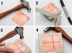 how to create texture on metal with hammers evenly every time - from 12 Ways to Create Texture on Metal & How to Hammer Even Textures Every Time - Jewelry Making Daily - 12 modi per creare delle texture sul metallo