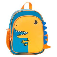 dinosaur backpack, unzips to show x ray of the dino (the monster doesn't need a new backpack but this is pretty cute)
