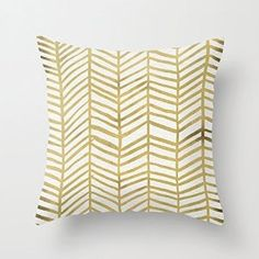 Amazon.com: 1WillLoanestore Gold Herringbone 18 X 18 Creative Fashion Polyester Square Decorative Throw Pillow Cover: Home & Kitchen