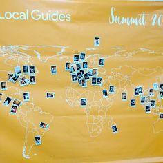 La carte représentant les 75 Local Guides présent au premier sommet du programme chez Google là semaine dernière.  #LocalGuides #Google #travel #Amazing