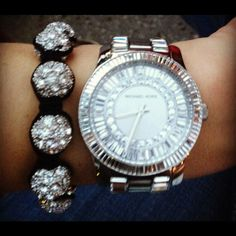 Michael Kors crystal bling watch! So in love