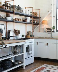 Interior design ideas living tube kitchen shelves himself building copper kitchen industrial style