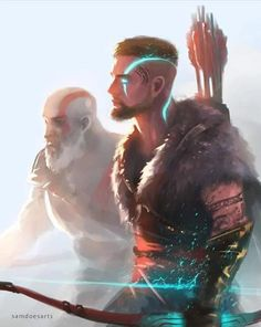 God of War is a third person action-adventure video game developed by Santa Monica Studio and published by Sony Interactive Entertainment. God of. Kratos God Of War, Fantasy Character Design, Character Inspiration, Character Art, Dnd Characters, Fantasy Characters, Loki, Thor, Illustration Fantasy