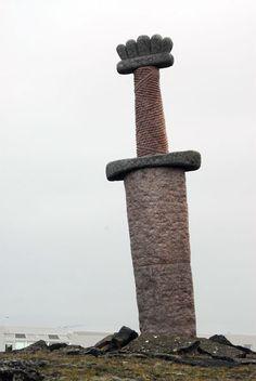 Viking sword monument, Njarðvík. Close to me home :)