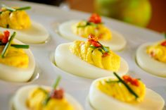 Sun Dried Tomato Deviled Eggs  | G-Free Foodie #GlutenFree