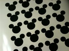 lot of 25 Mickey Mouse vinyl sticker decals 3 Inches each Disney Wall Decor Outdoor indoor use Bathrooms Nursery Playroom. $11.75, via Etsy.