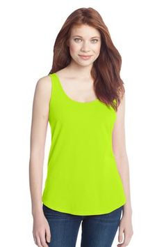 Buy the District - Juniors Cotton Swing Tank Style DT2500 from SweatShirtStation.com, on sale now for $6.98 #lime #tank #top #cotton