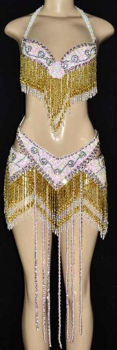 beaded showgirl costumes | Vegas Samba Stage Carnival Beaded Showgirl Dance Costume