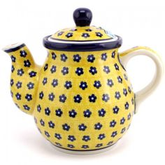 Polish Pottery Teapot 23 oz (0.65 L) Yellow Passion