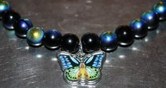 Mystically Colored Butterfly Anklet Sexy, Beautiful by LetitBJewelry on Etsy, $11.99