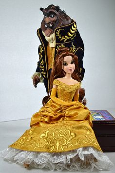Belle and the Beast Disney Fairytale Designer Collection Limited Edition Disney Store Exclusive Dolls