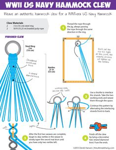 Learn how to make a World War II US Navy Hammock and Clew.