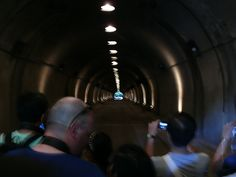 Corregidor- Inside the Malinta Tunnel.  Today they feature a sound and light show inside the tunnel to recreate the history of the siege of Corregidor.