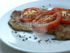 Baklažánové placky s pečenými paradajkami Baked Potato, Pork, Potatoes, Meat, Chicken, Baking, Ethnic Recipes, Fitness, Kale Stir Fry