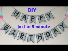 Birthday Party Decorations For Adults, Monster Birthday Parties, Birthday Party For Teens, Unicorn Birthday Parties, Diy Party Decorations, 3rd Birthday, Diy Birthday Banner, Happy Birthday Bunting, Diy Banner