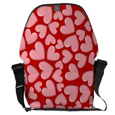 Puffy Hearts Messenger Bags