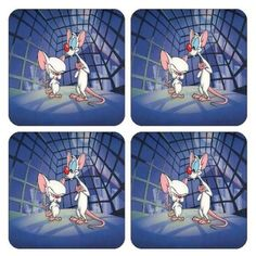 """Pinky and the Brain Coasters , (set of 4) Brand New! by mycustomvinyl. $8.99. COASTERS WITH EXTRAORDINARY CLARITY, SHINY AND BEAUTIFUL COLORS.  DESIGNS AND/OR IMAGES ARE PRINTED THROUGHOUT A PROFESSIONAL MACHINE TO A WARM SURFACE OF 100% POLYESTER,  GAINING HIGH QUALITY RESULTS AND THAT DO NOT DETERIORATE OVER TIME. THESE COASTERS ARE HEAT RESISTANT AND WASHABLE.   THE COASTERS MEASUREMENTS ARE 3.75"""" x 3.75"""""""" x .25"""".   COASTERS ARE MANUFACTURED WITH 100% POLYESTER, SUP..."""