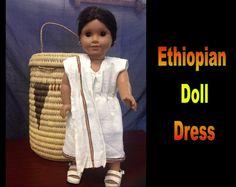 Ethiopia Doll Dress 7 by CCIWorld on Etsy, $15.00   #Ethiopia #doll #adoption #internationaladoption #dollclothes #orphans #ethiopiandresses