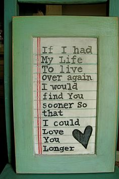 This is how I feel about my husband :-)