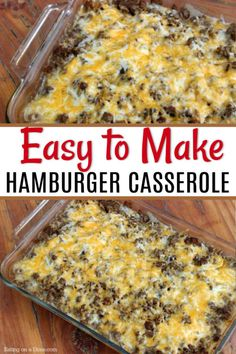 I promise…this the one of the best hamburger casseroles with ground beef and potatoes. This is a simple dinner idea that everyone in the family with love. I hope your family enjoys it as much as mine does! with ground beef and potatoes Best Hamburger Casserole Recipes, Ground Beef Casserole, Easy Meat Recipes, Easy Casserole Recipes, Quick Dinner Recipes, Quick Meals, Cooking Recipes, Casserole Ideas, Hamburger Dishes
