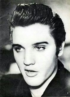 Elvis, looking disturbingly handsome.