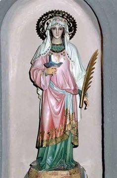 13 de Diciembre / Año: …†304 / Lugar: Siracusa, Provincia Romana de Sicilia, Italia / Aparición de Santa Águeda a Santa Lucía de Siracusa, Virgen y Mártir (~283 – …†304).