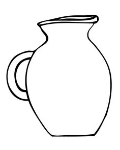 Jug coloring page | Download Free Jug coloring page for ...