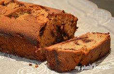 My favorite gluten-free snack. Banana & Chocolate Chip bread!